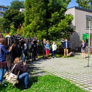 Ognisko Starówka, Konferencja Prezydenta Rafała Trzaskowskiego, fot. Katarzyna Boszko