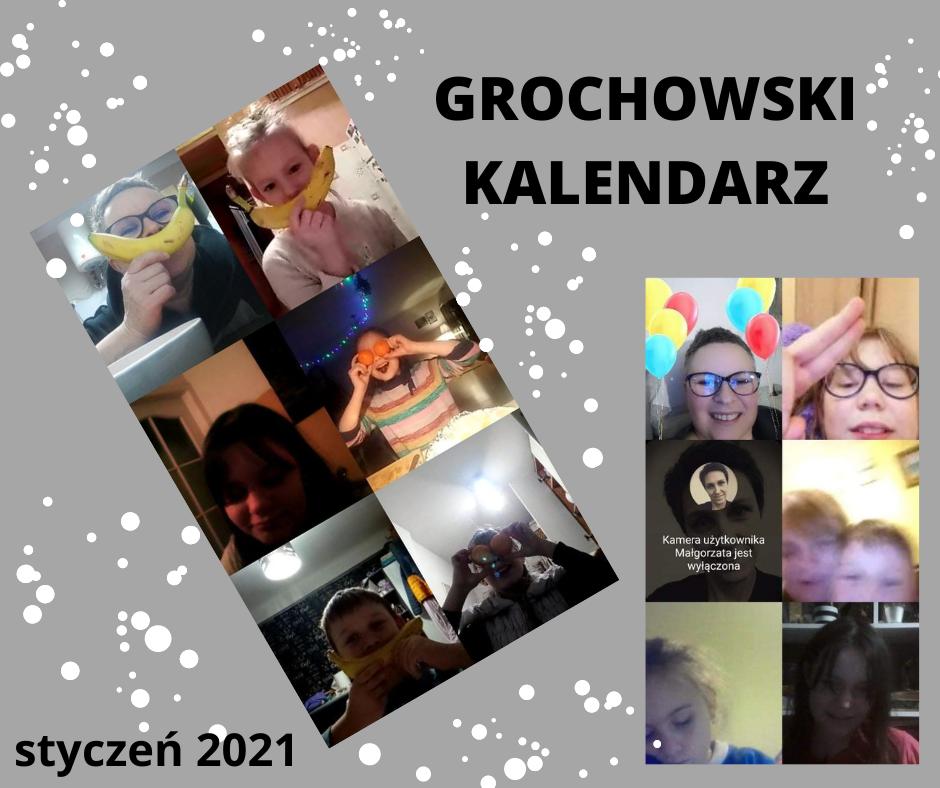 Kolaż ze zdjęć Ogniska Grochów - styczeń 2021