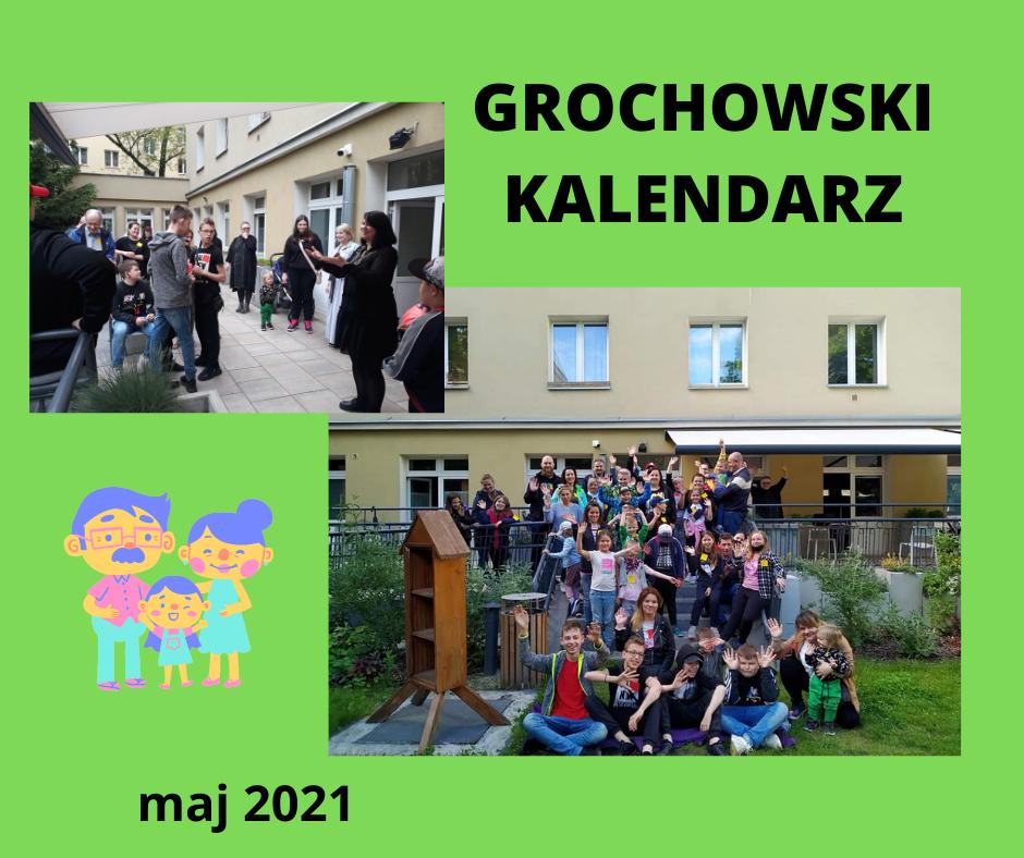 Kolaż ze zdjęć dzieci zOgniska Grochów, miesiąc maj